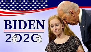 Image result for biden sniffing hair