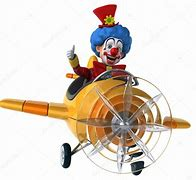Image result for clown statue on a plane